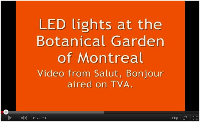 LED lights at Botanical Garden of Montreal